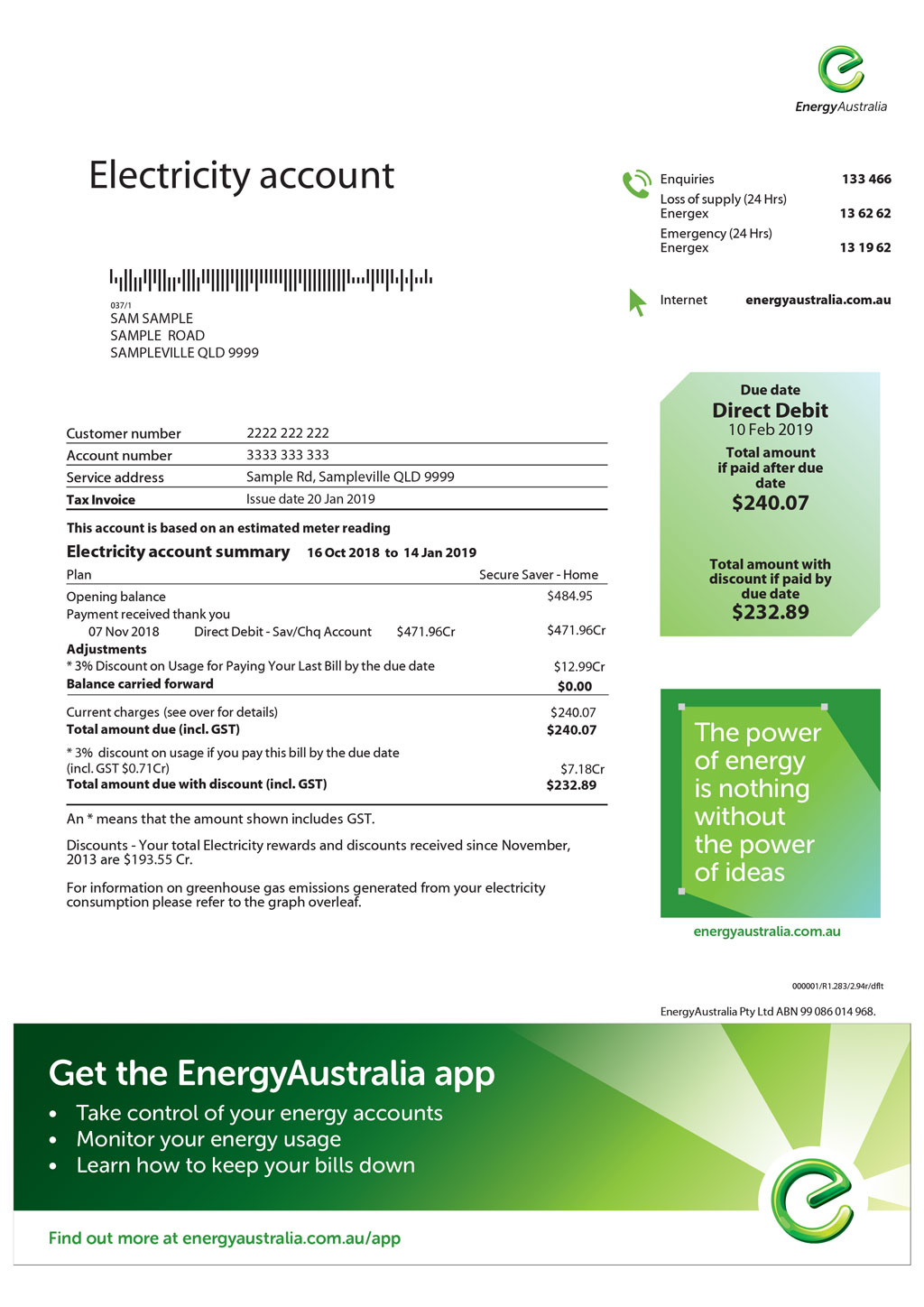 Electricity Bill Estimator (page 1)