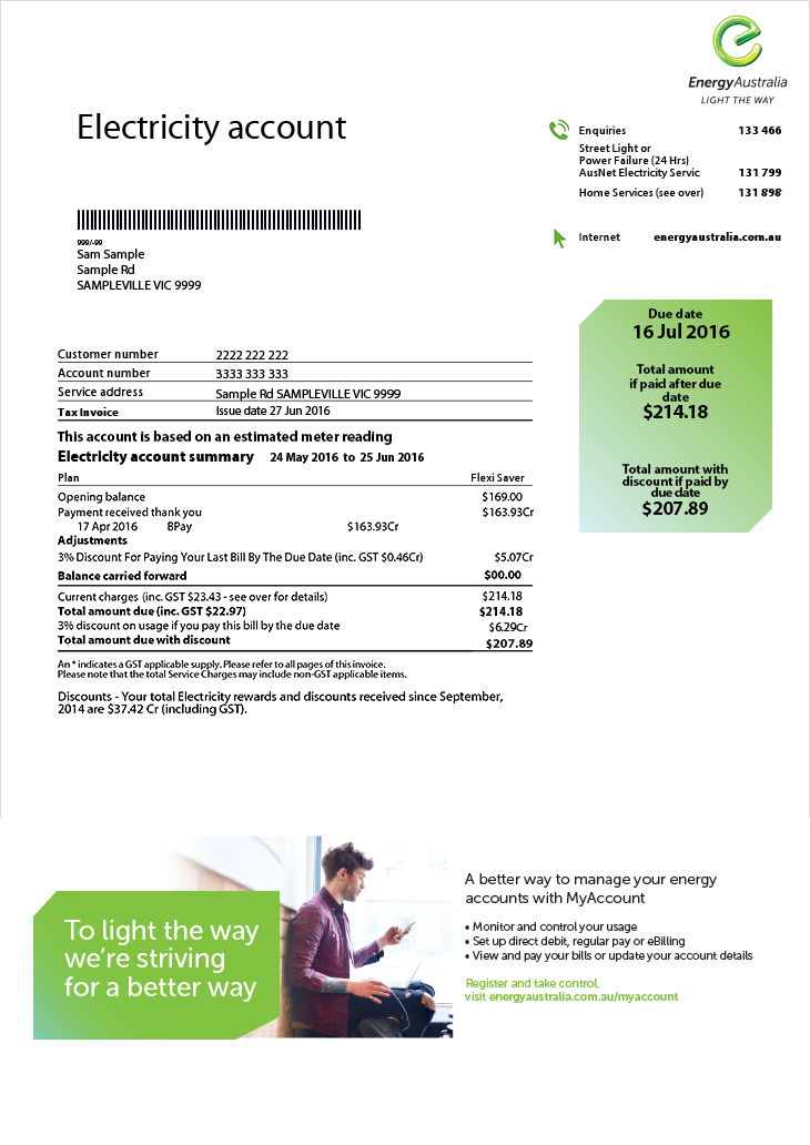 Bill Guides Energyaustralia