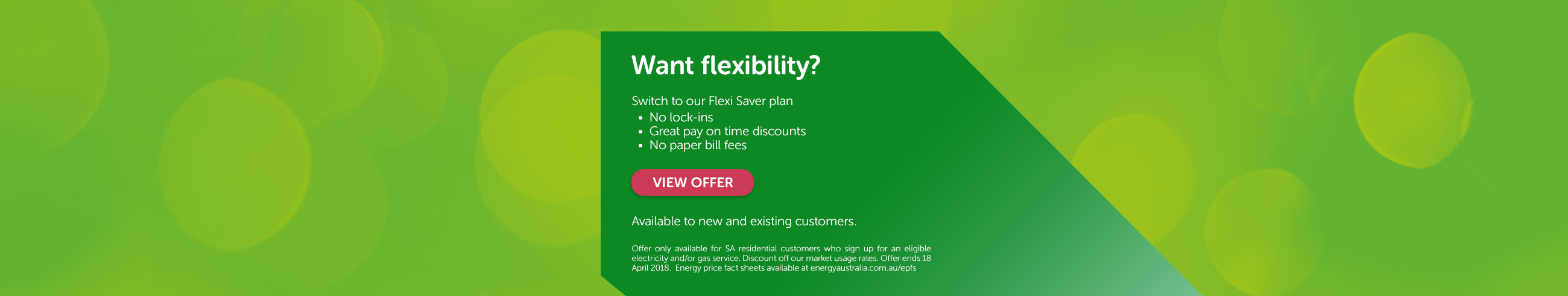 Switch to our Flexi Saver plan