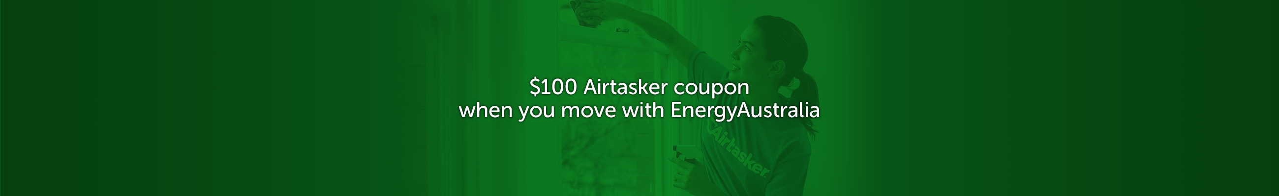 $100 Airtasker coupon when you move with EnergyAustralia