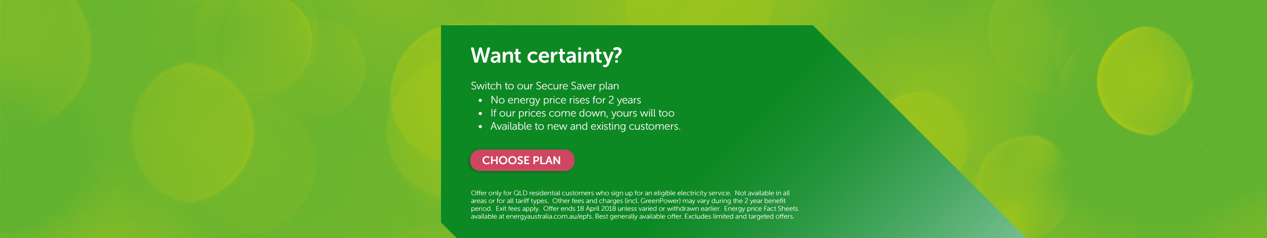 Switch to our Secure Saver plan