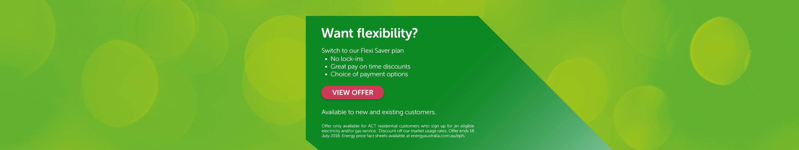 Want flexibility? Switch to our Flexi Saver plan