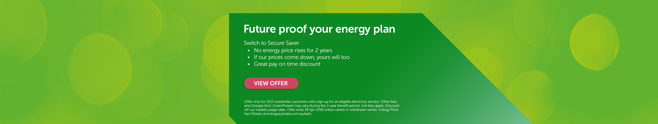 Future proof your energy plan - Switch to Secure Saver