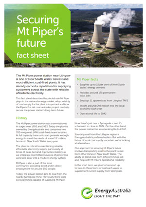 Rail coal unloader fact sheet