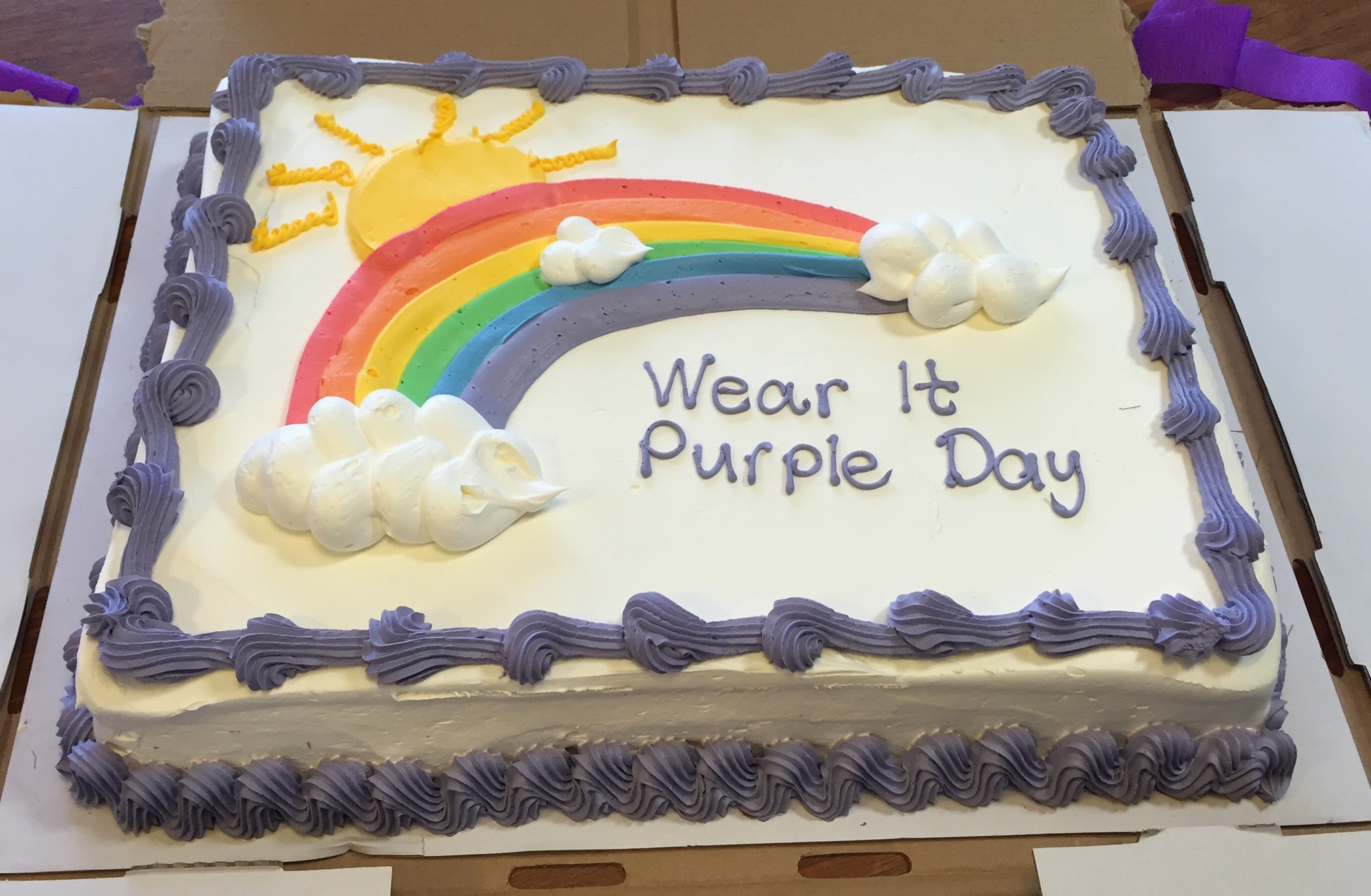 Wear It purple day cake