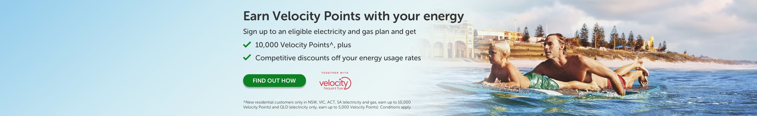 Earn Velocity points with your energy