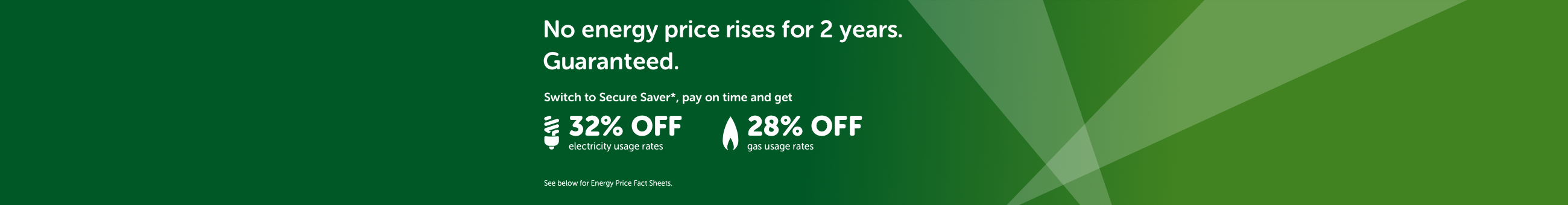 No energy price rises for 2 years. Guaranteed.