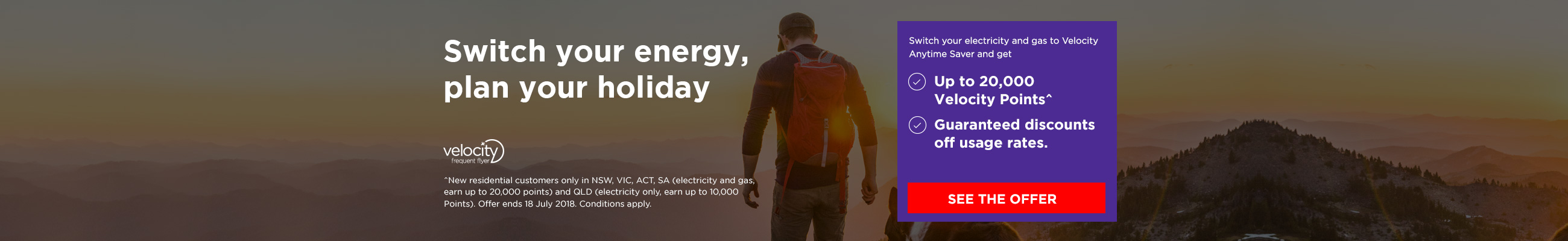 Switch your energy, plan your holiday