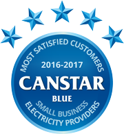 Canstar Blue - Most satisfied customers 2016 - 2017 - Small Business Electricity Providers