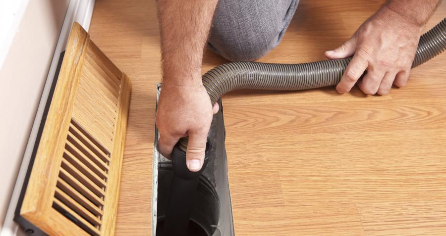 How to clean a ducted heating system