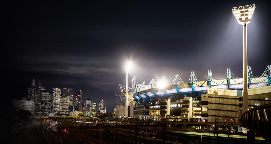 An image of MCG with lights on
