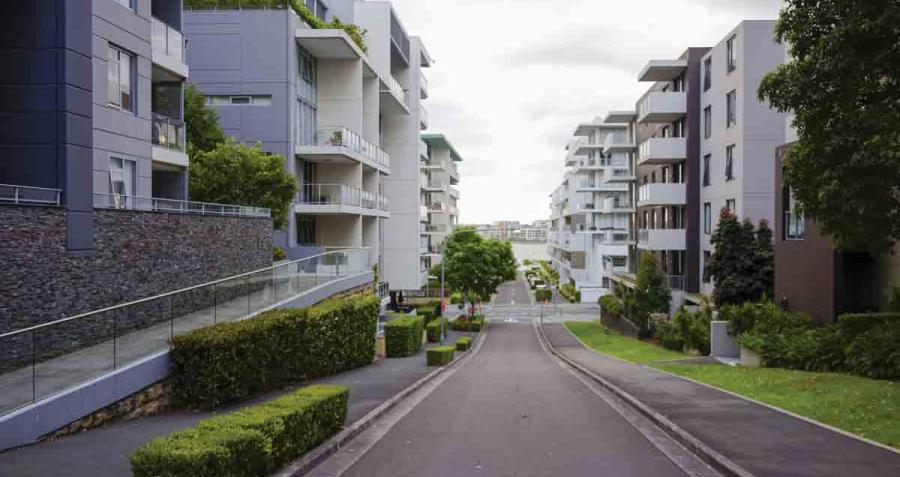 An Example Of Medium Density Housing, Low Level Apartments In Sydney Australia