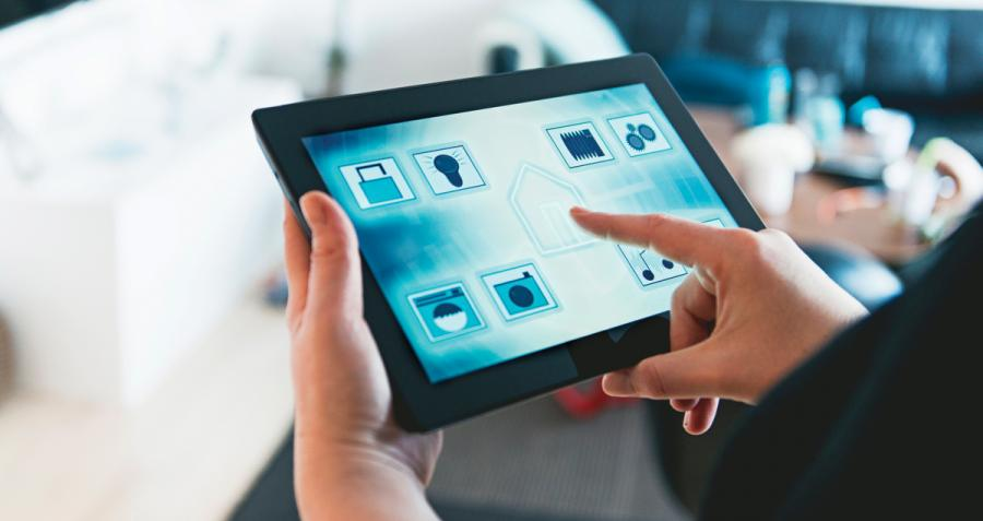 Using tablet to control home appliances