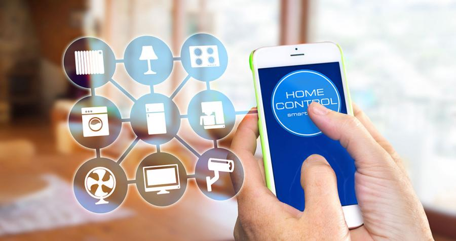 Smartphone controlling home appliances