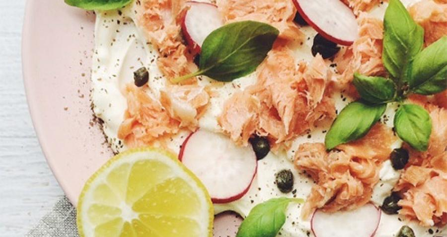 Scandi-style Salmon and Lemon Myrtle Cream Cheese Platter