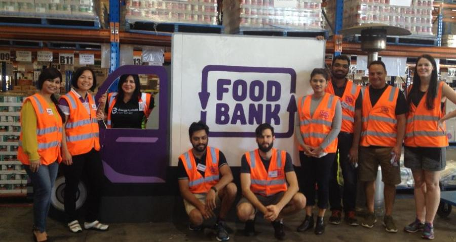 EnergyAustralia Employees Volunteer At Foodbank As Part Of National Volunteer Week