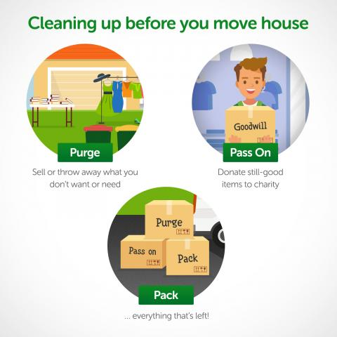 Cleaning up before you move house infographic